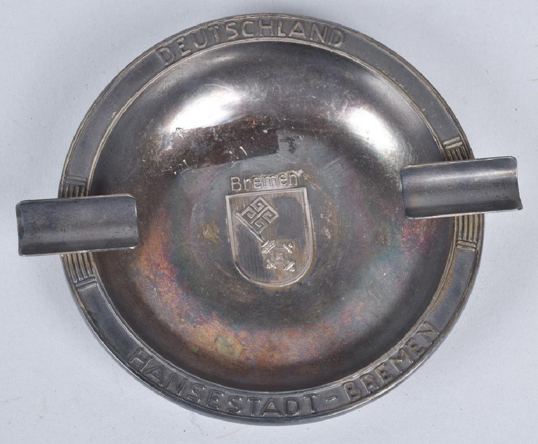 PAIR OF ASH TRAYS FROM THE SS BREMEN SHIP - 2
