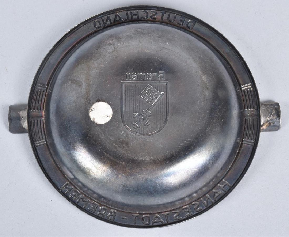 PAIR OF ASH TRAYS FROM THE SS BREMEN SHIP - 3