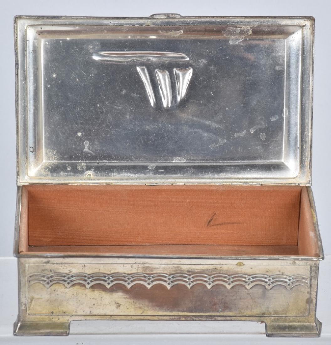 VINTAGE SILVER SAILBOAT TRINKET BOX - 2