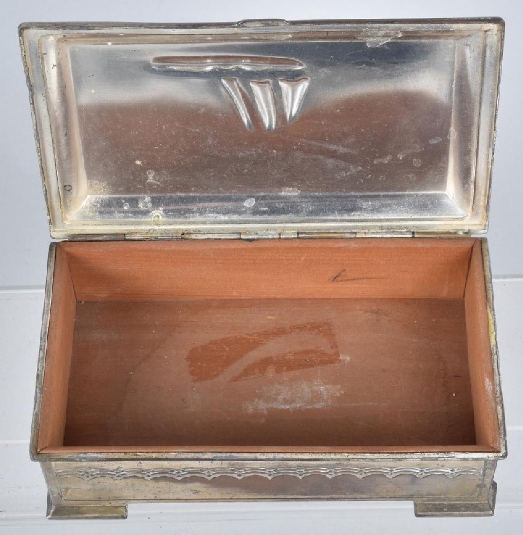 VINTAGE SILVER SAILBOAT TRINKET BOX - 3
