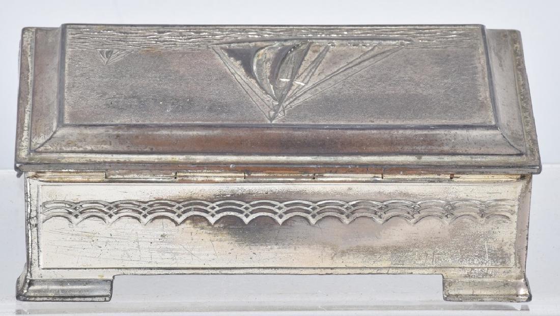 VINTAGE SILVER SAILBOAT TRINKET BOX - 4
