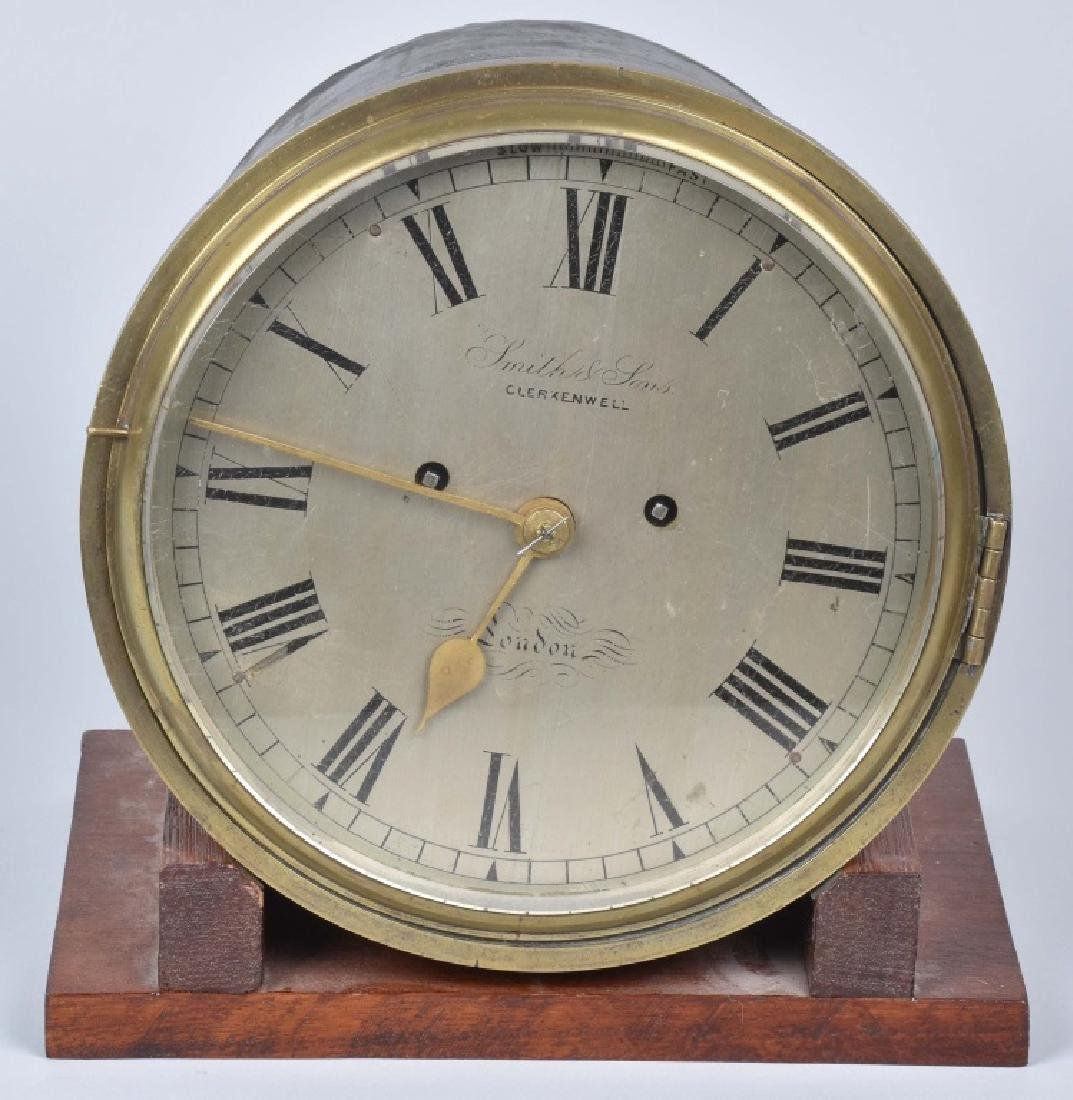 SMITH & SONS CHELSEA STYLE BRASS SHIPS CLOCK
