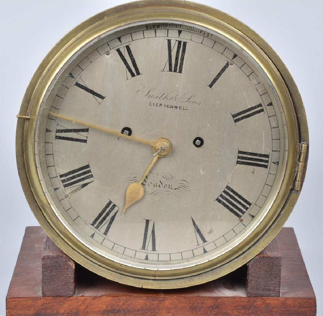 SMITH & SONS CHELSEA STYLE BRASS SHIPS CLOCK - 2