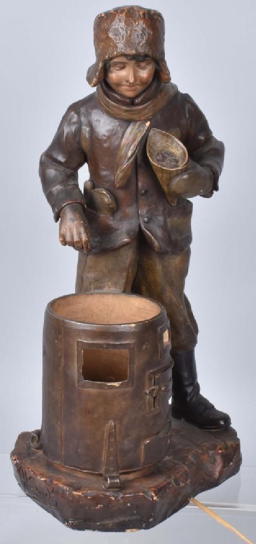VINTAGE BOY AT FURNACE LAMP By HOCHOCK - 4