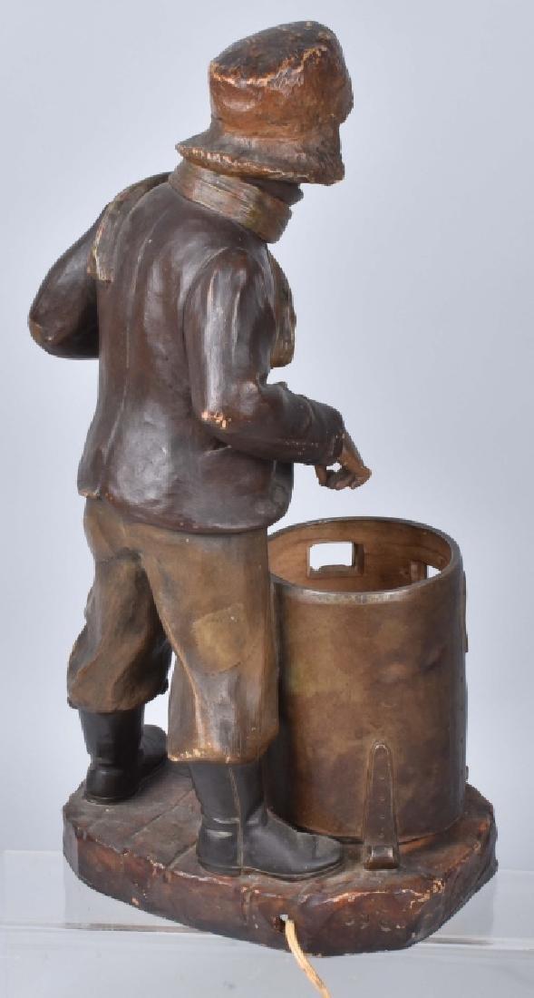 VINTAGE BOY AT FURNACE LAMP By HOCHOCK - 5