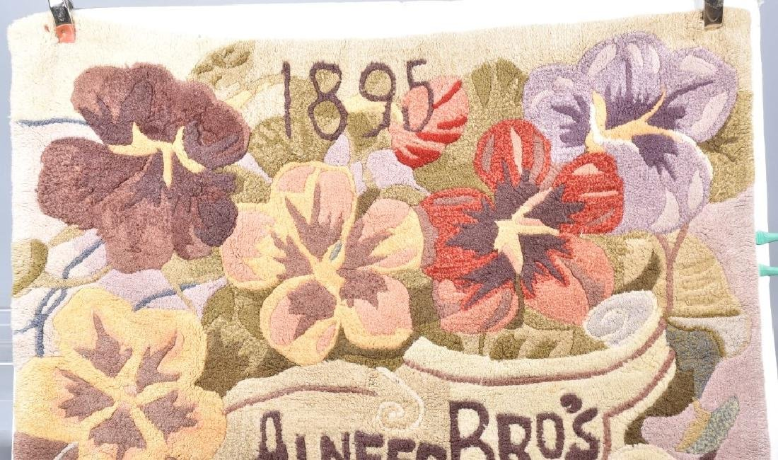 1895 ALNEERS BROS. SEEDS ADVERTISING RUG - 2