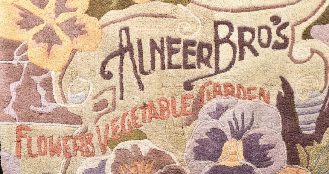 1895 ALNEERS BROS. SEEDS ADVERTISING RUG - 3