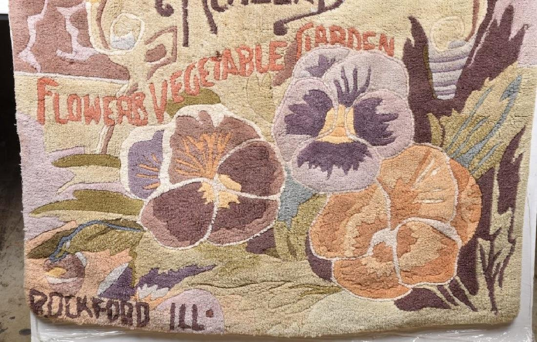 1895 ALNEERS BROS. SEEDS ADVERTISING RUG - 4