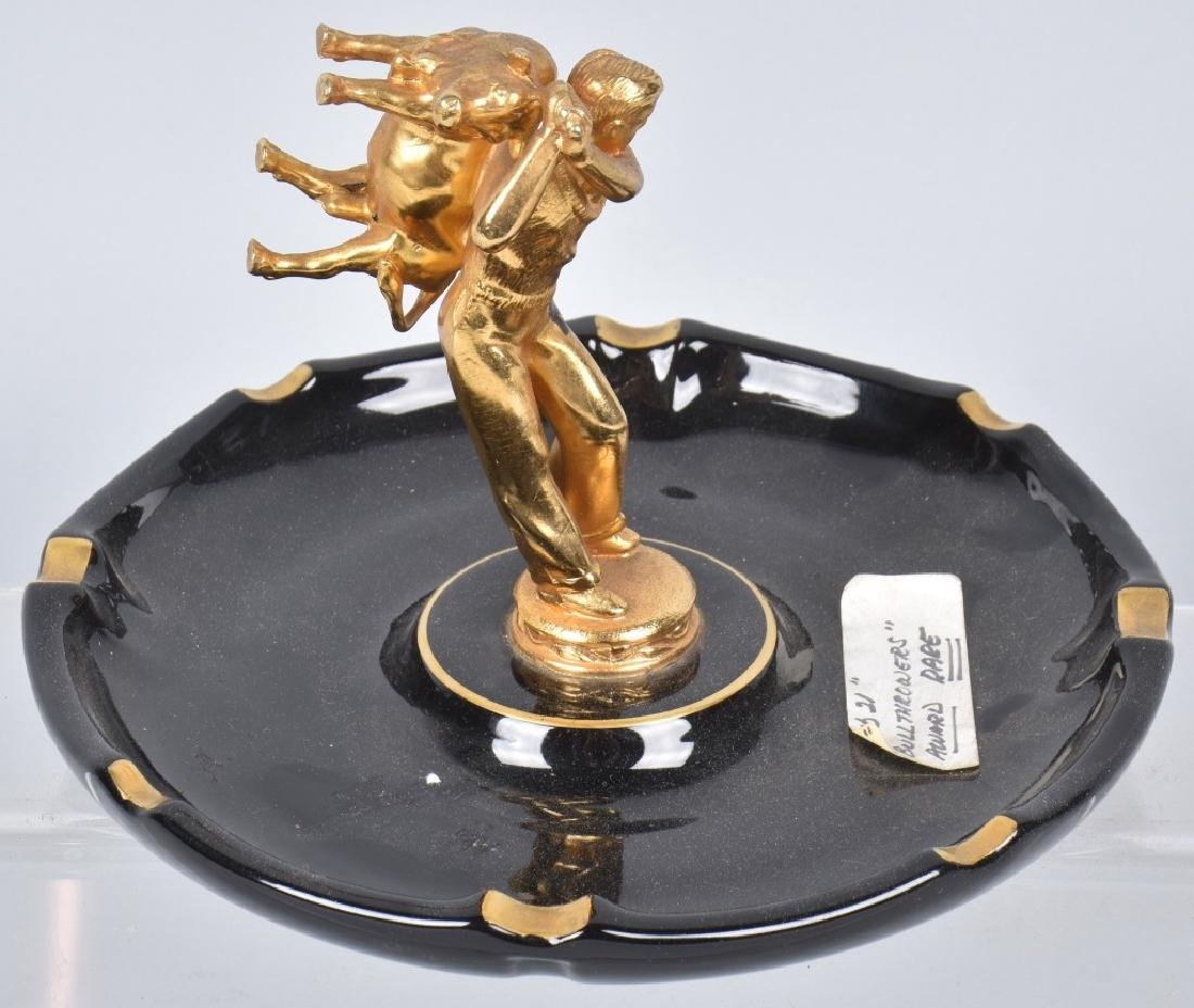 VINTAGE CLUB 21 BULL THROWERS ASH TRAY - 4