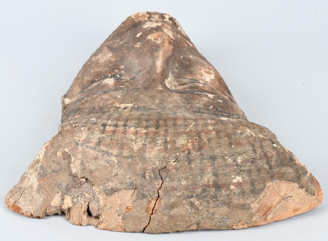EGYTPYIAN WOODEN SARCOPHAGUS MUMMY MASK - 3