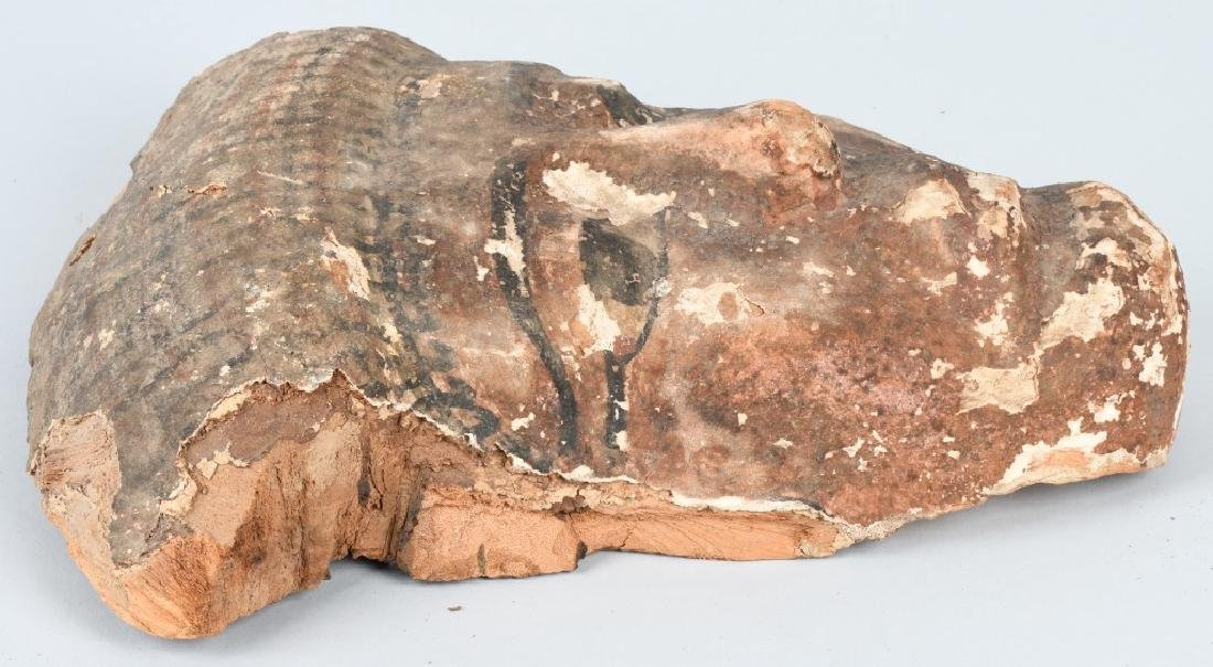 EGYTPYIAN WOODEN SARCOPHAGUS MUMMY MASK - 4
