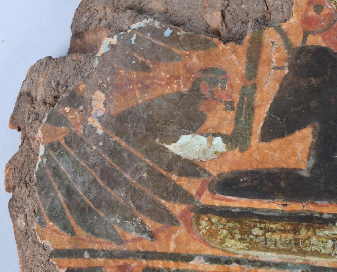 EGYTPTIAN MUMMY SARCOPHAGUS PANEL - 3