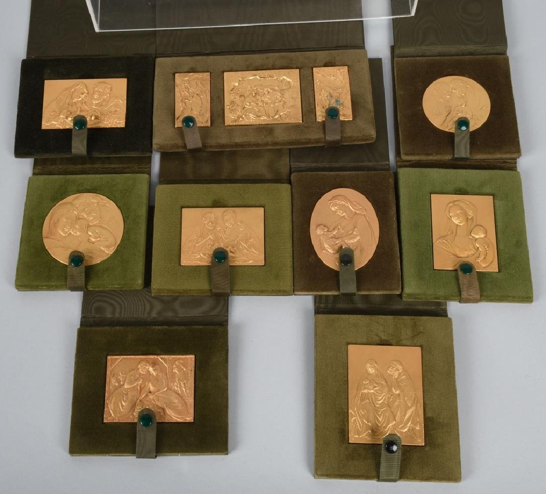 12- 1970s GOLD RELIGIOUS MEDALS BY E. MANFRINI
