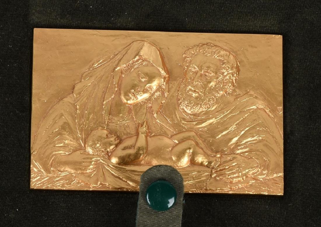 12- 1970s GOLD RELIGIOUS MEDALS BY E. MANFRINI - 2