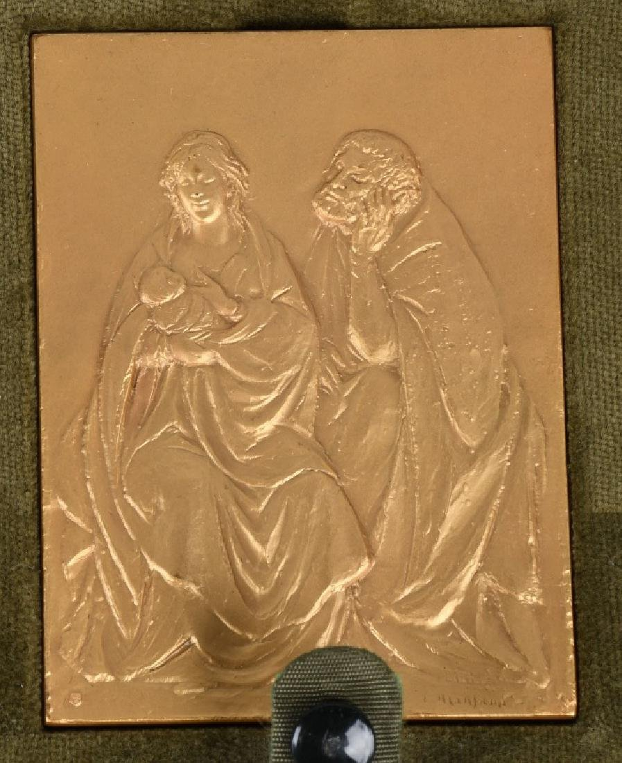 12- 1970s GOLD RELIGIOUS MEDALS BY E. MANFRINI - 3