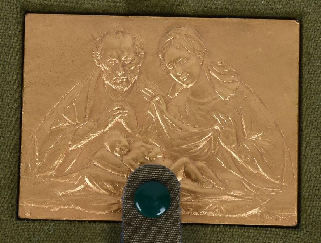 12- 1970s GOLD RELIGIOUS MEDALS BY E. MANFRINI - 6