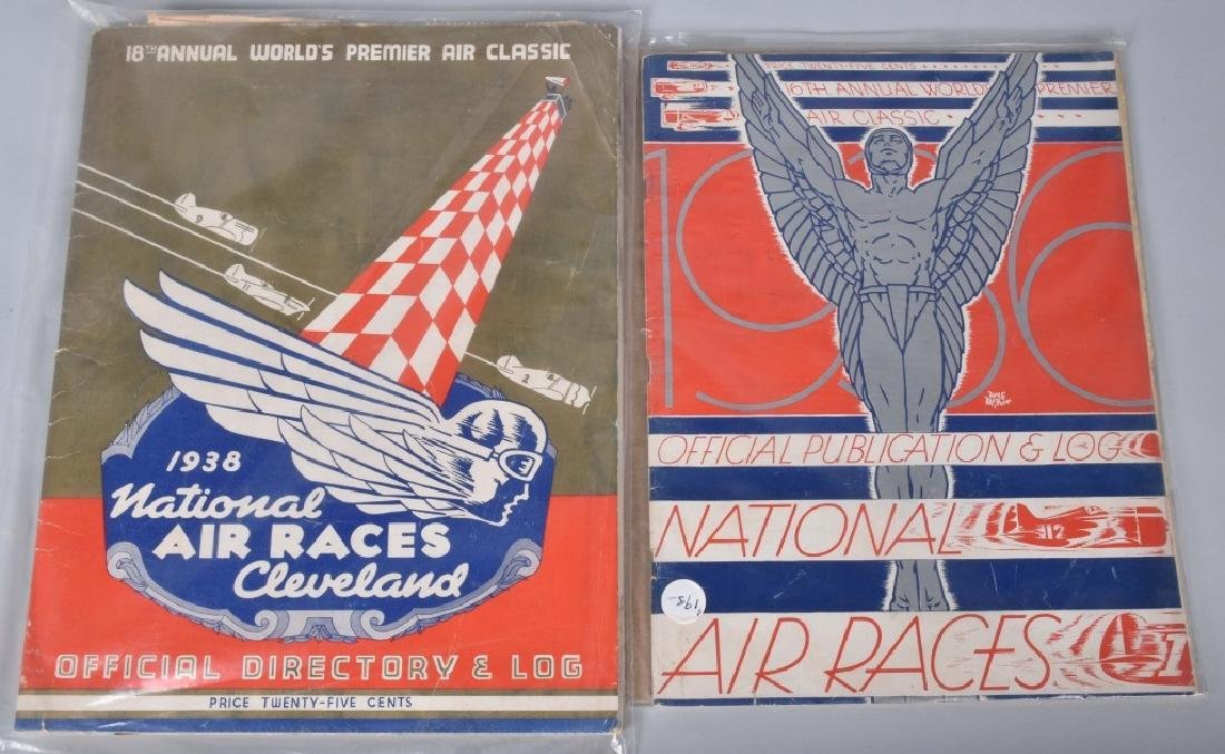 30s AIR RACE BOOKS, TWA , & OTHER AIRPLANE ITEMS - 2