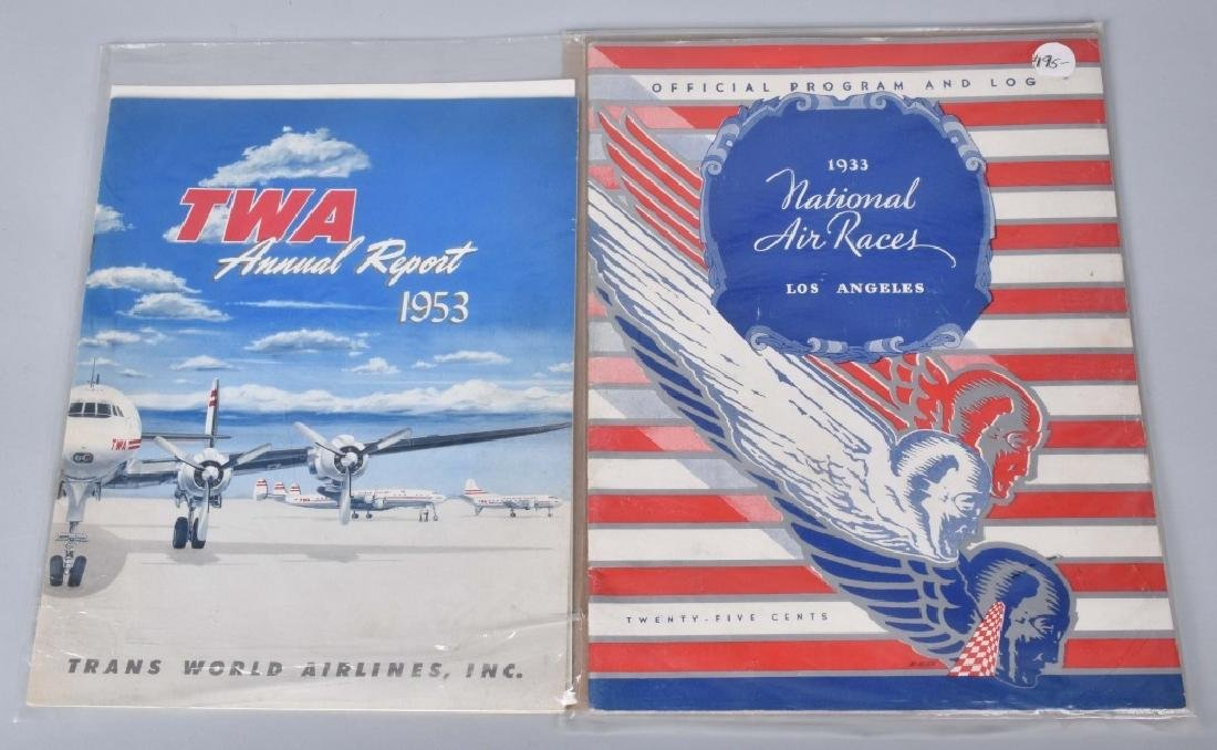 30s AIR RACE BOOKS, TWA , & OTHER AIRPLANE ITEMS - 3