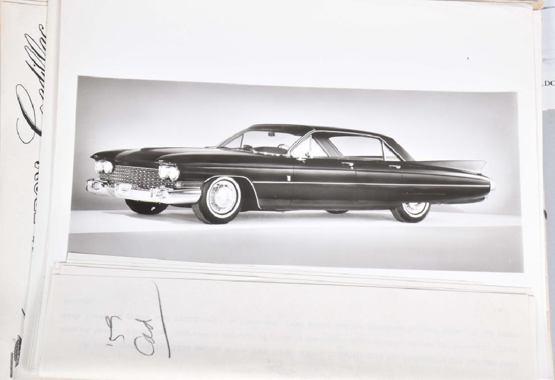 1950s-60s CADILLAC OFFICAL PHOTOS & PRESS RELEASE - 2