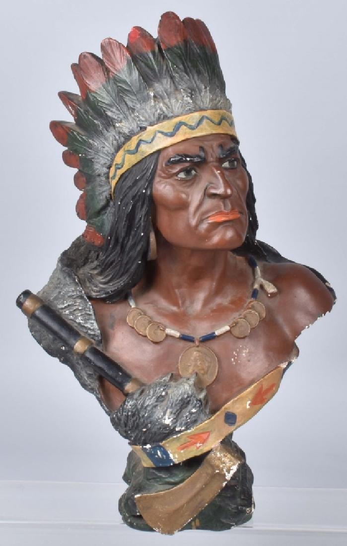 IROQUOIS INDIAN BUST TOBACCO STORE DISPLAY