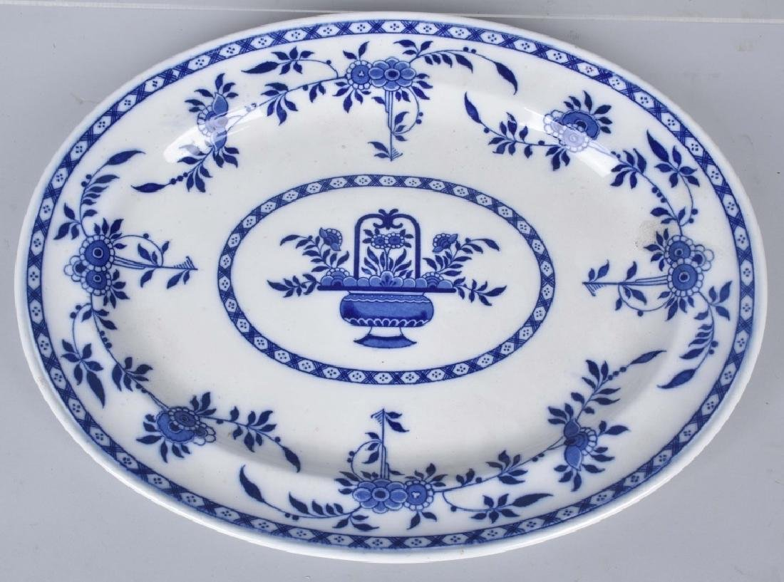 ANTIQUE DEFLT BLUE PLATTER