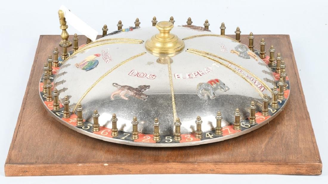 VINTAGE ROULETTE WHEEL w/ NUMBERS & ANIMALS