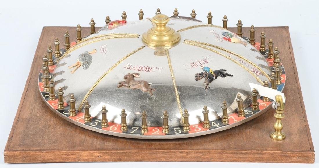 VINTAGE ROULETTE WHEEL w/ NUMBERS & ANIMALS - 2