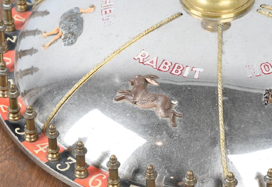 VINTAGE ROULETTE WHEEL w/ NUMBERS & ANIMALS - 4