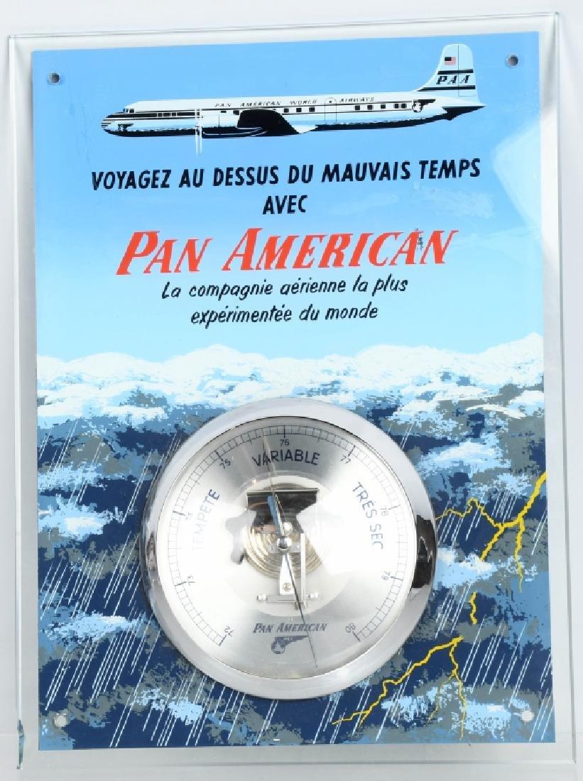 VINTAGE PAN AMERICAN AIRLINES BAROMETER
