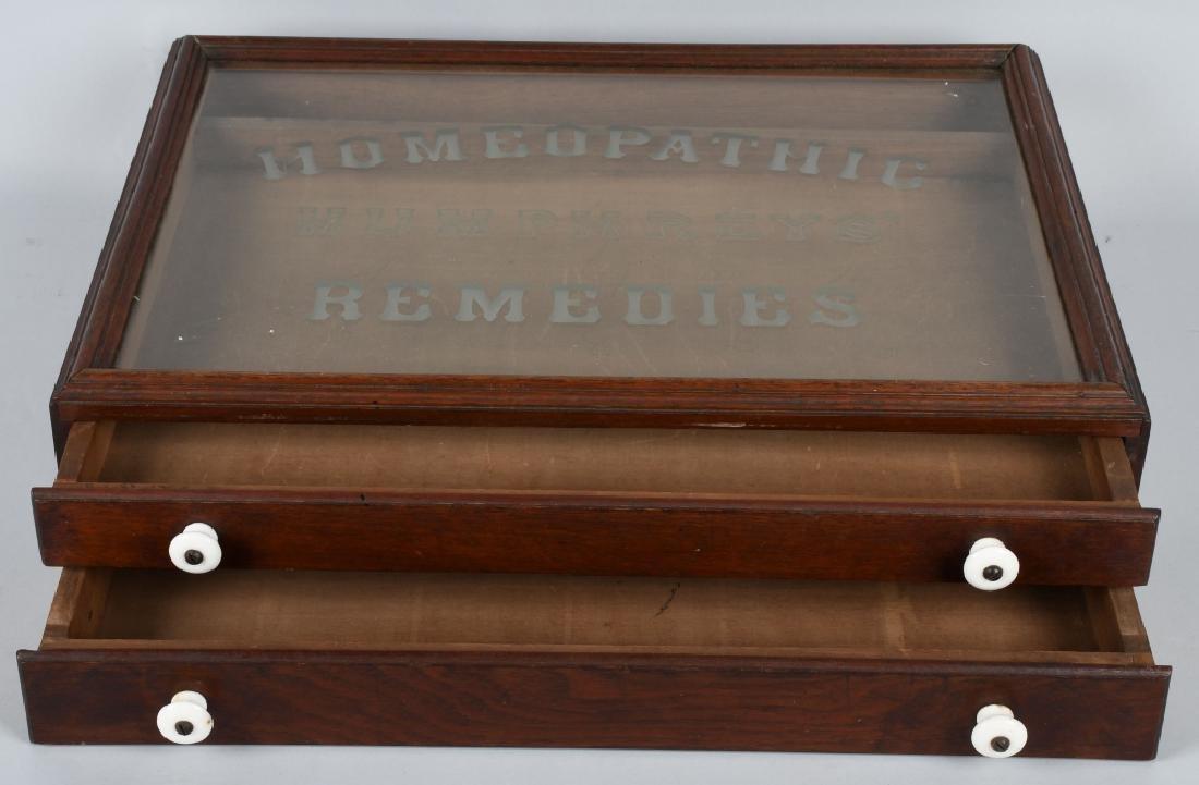 HUMPHREY'S REMIDIES STORE DISPALY CASE - 3