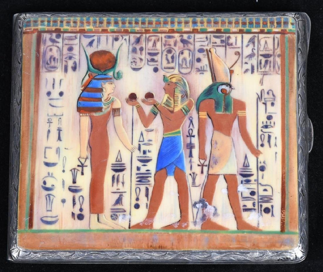 VINTAGE CIGARETTE CASE WITH EGYPTIAN SCENE