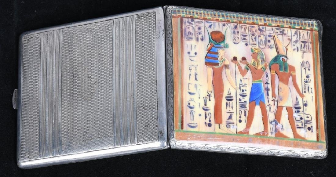 VINTAGE CIGARETTE CASE WITH EGYPTIAN SCENE - 4