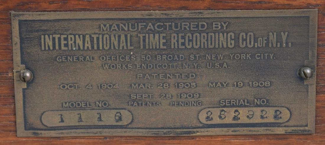 INTERNATIONAL TIME RECORDING CO TIME CLOCK - 5