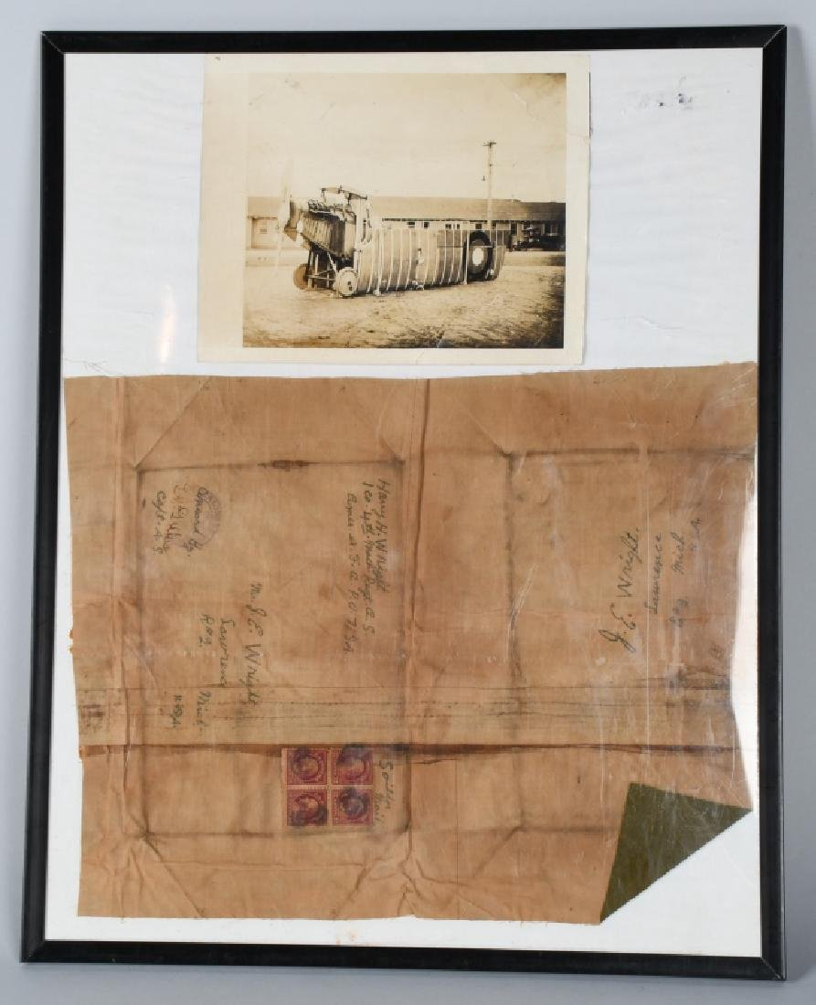 WW1 AIRPLANE CANVAS LETTER & PICTURE