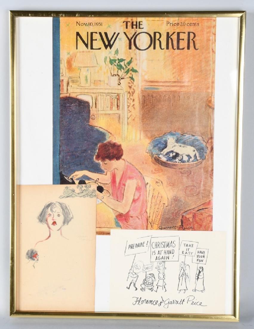 "GARRETT PRICE ""NEW YORKER ARTIST"" ORIGINAL SKETCH"