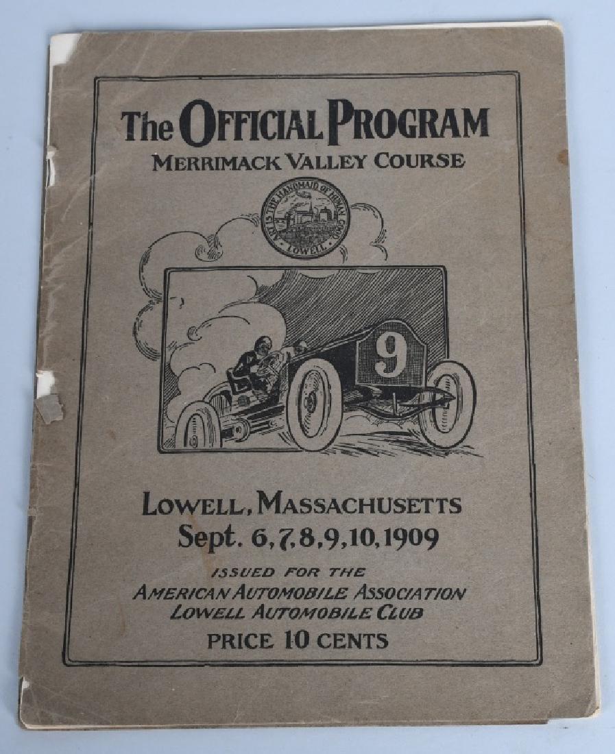 1909 MERRIMACK RACE CAR PROGRAM