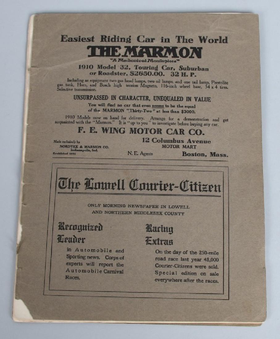 1909 MERRIMACK RACE CAR PROGRAM - 5