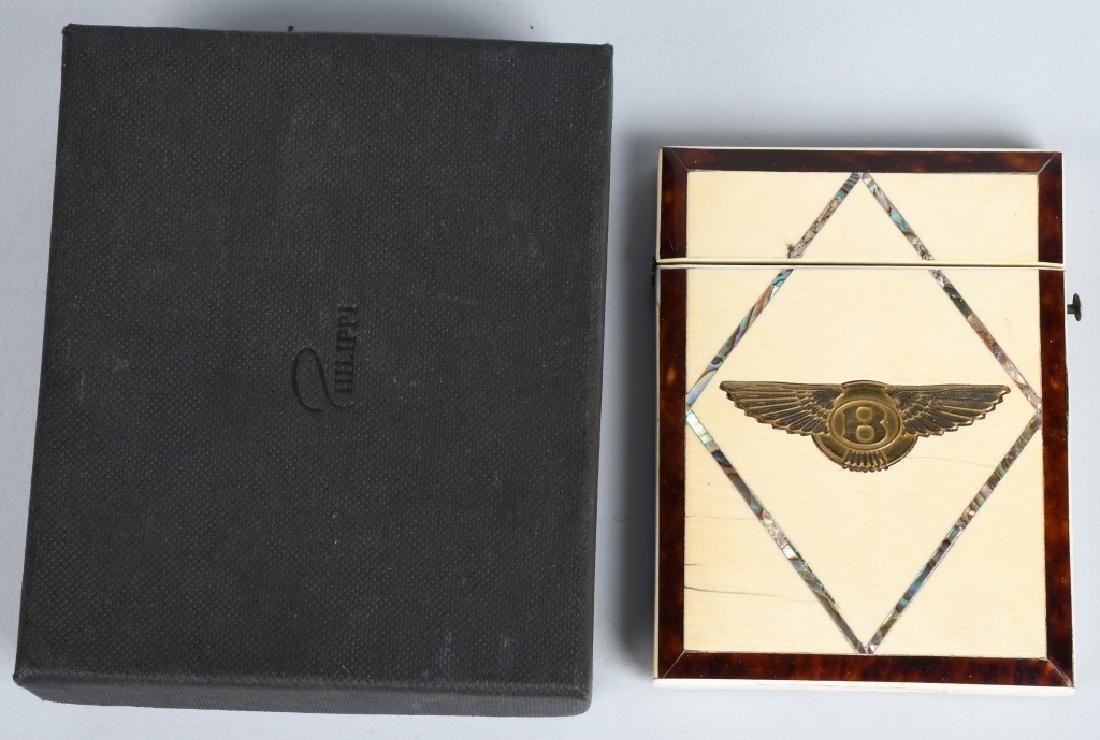 WALTER OWEN BENTLEY BONE INLAY CARD CASE