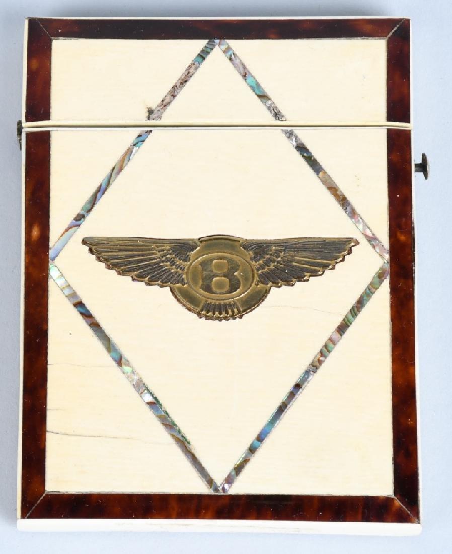 WALTER OWEN BENTLEY BONE INLAY CARD CASE - 2