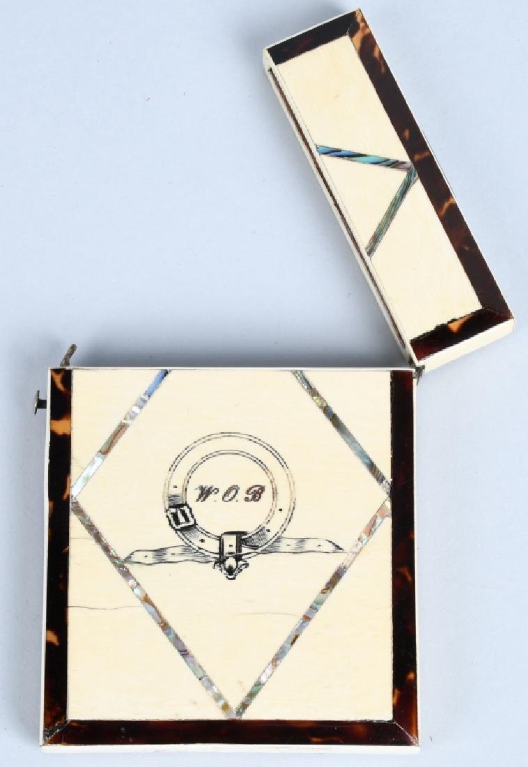 WALTER OWEN BENTLEY BONE INLAY CARD CASE - 3