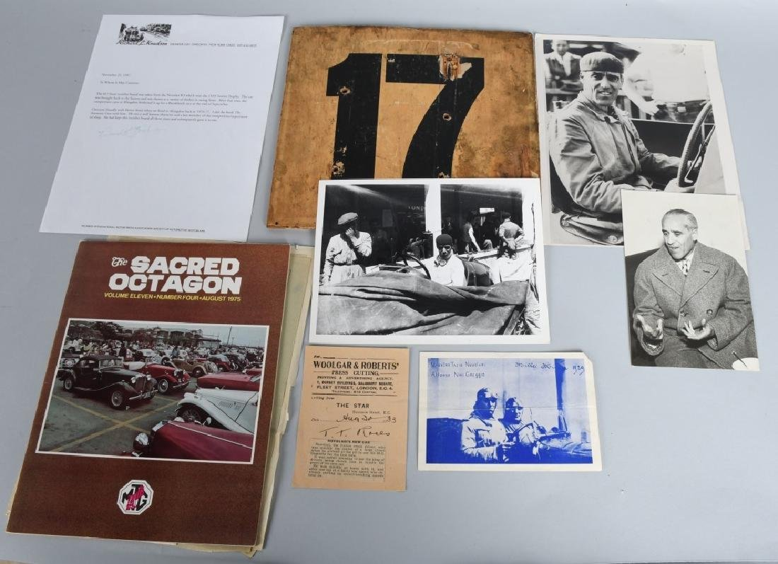 1933 MG NUVOLARI K3 RACE CAR #17 NUMBER
