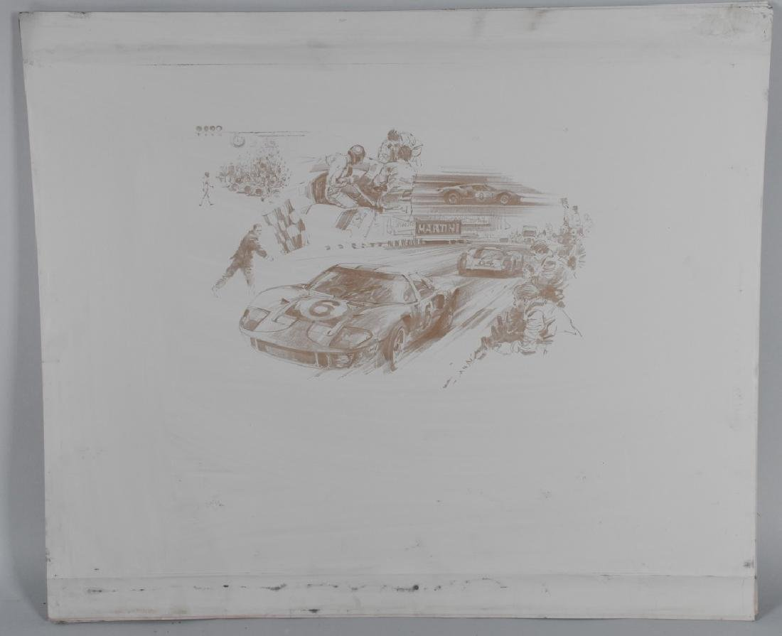 6- ORIGINAL RACING LITHO ART SHEETS - 2