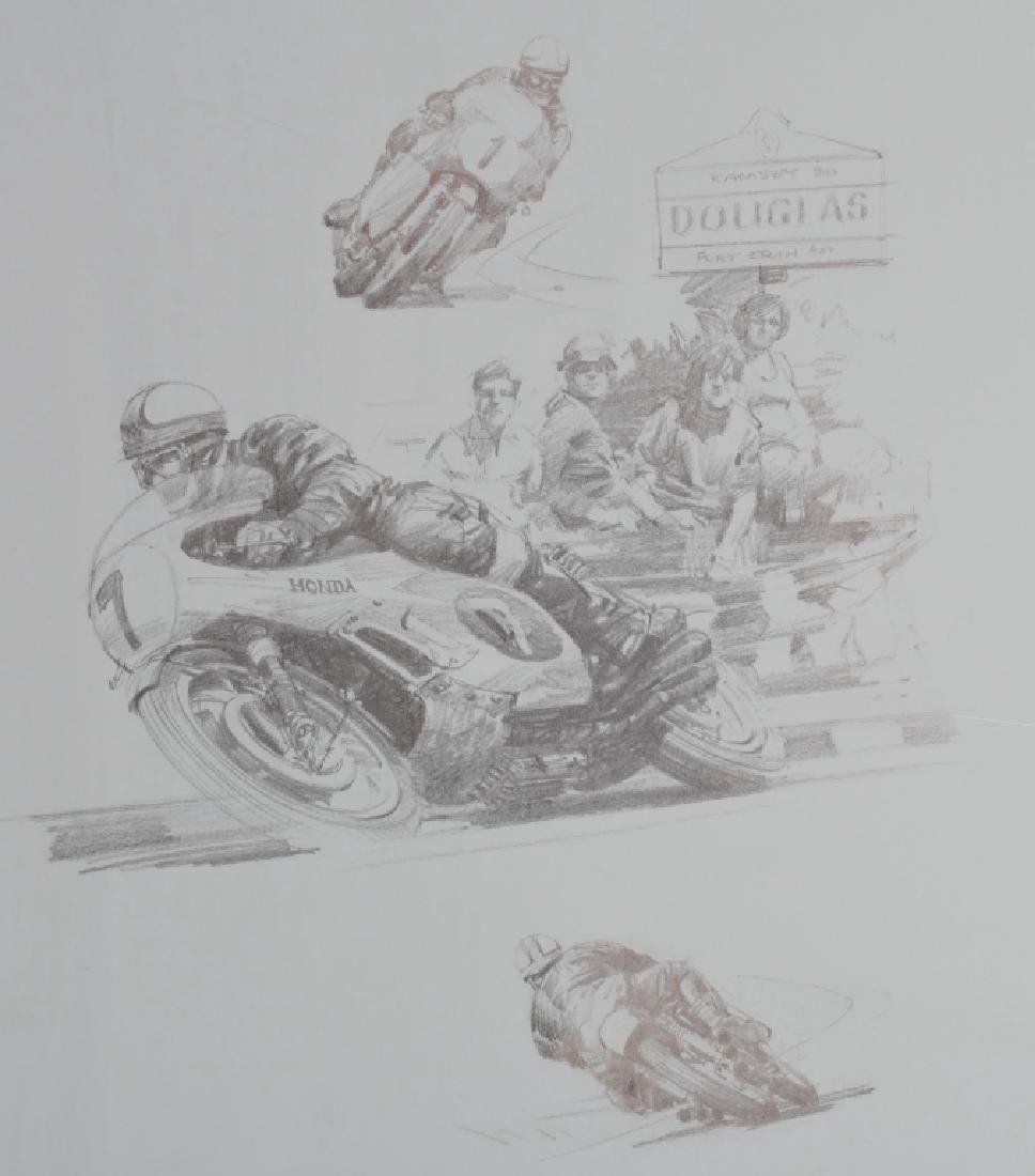 6- ORIGINAL RACING LITHO ART SHEETS - 4