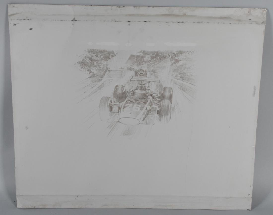 6- ORIGINAL RACING LITHO ART SHEETS - 5
