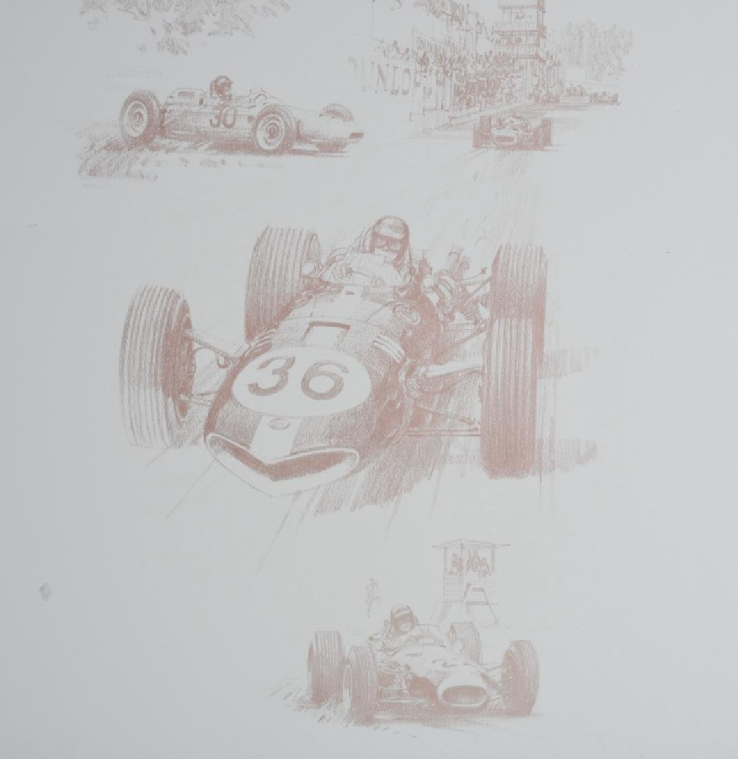 6- ORIGINAL RACING LITHO ART SHEETS - 8