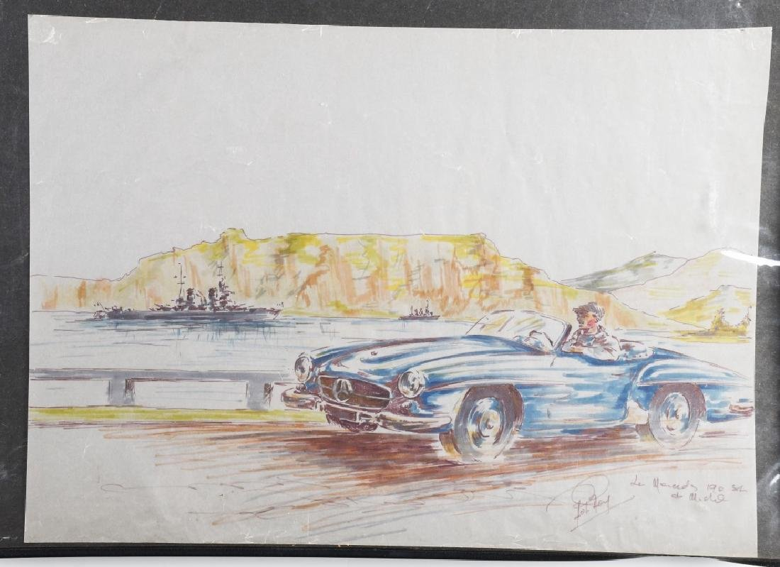 ROB ROY MERCEDES BENZ 190 SL PAINTING
