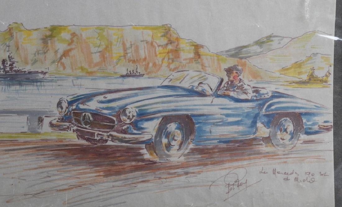 ROB ROY MERCEDES BENZ 190 SL PAINTING - 2