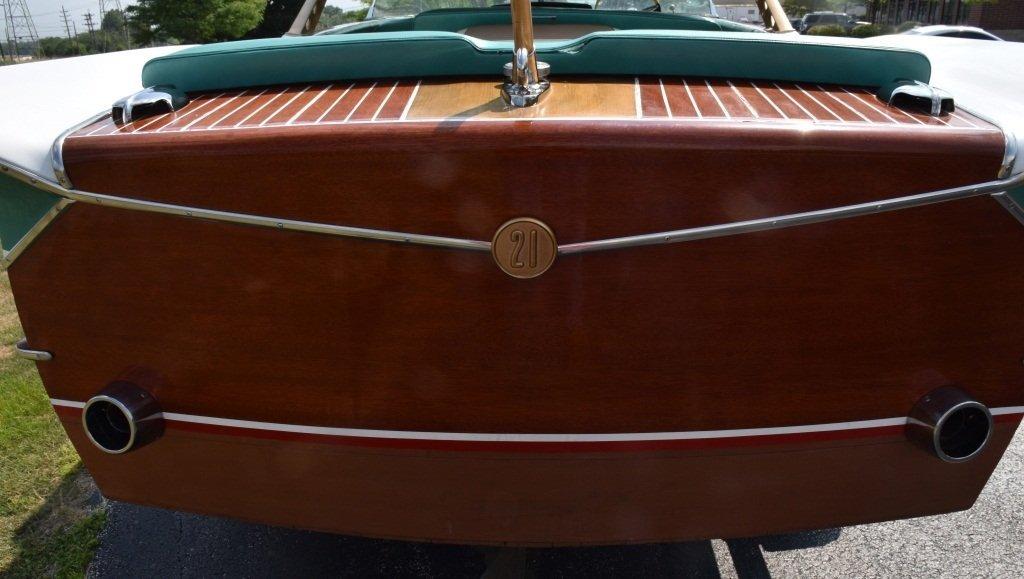 1961 CHRIS CRAFT 21' CONTINENTAL WOOD BOAT w/FINS - 10