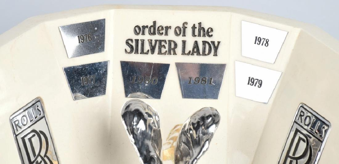 ORDER OF THE SILVER LADY ROLLS ROYCE DEALER AWARD - 2