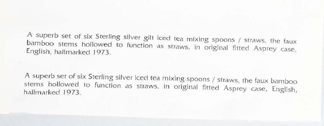 2- SETS OF 6 STERLING SILVER ICED TEA SPOONS - 5